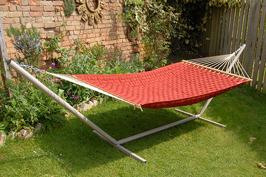 hammock and stand in the garden